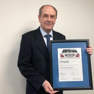 Mercedes Benz premia la Calidad Total de Garita Automotive al alcanzar 0 ppm