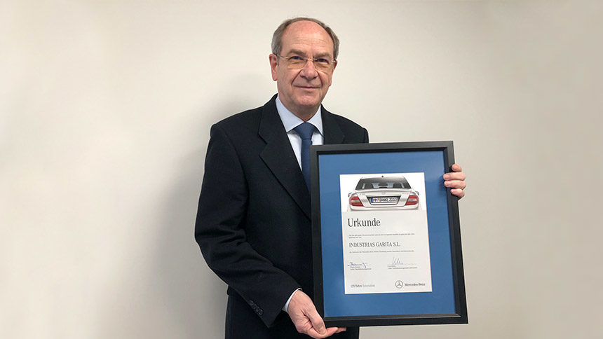 Mercedes Benz récompense la Qualité Globale de Garita Automotive pour avoir atteint 0 ppm